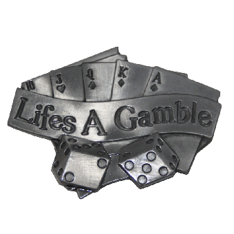 Life is a gamble - Gürtelschnalle / Buckle