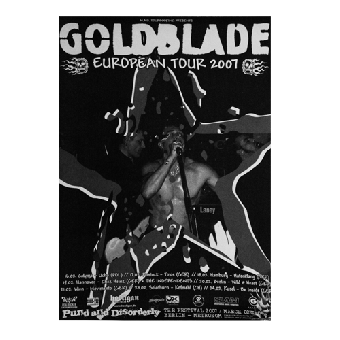 Goldblade European Tour 2007 Poster (gefaltet)