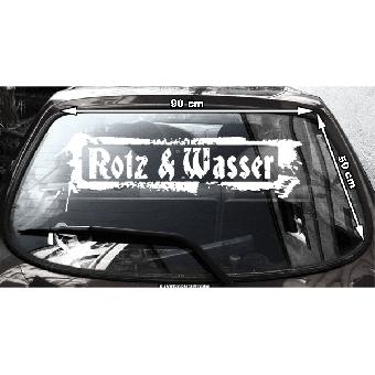 Rotz & Wasser - Heckscheibenaufkleber (außen / outside)