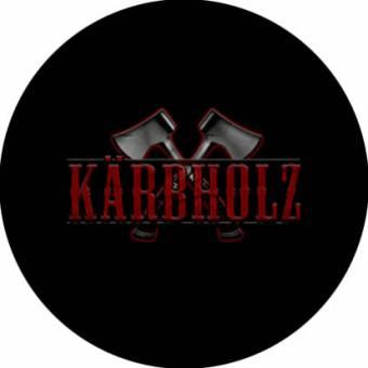 Kärbholz (2) Roter Schriftzug - Button (2,5 cm) 102 NEU