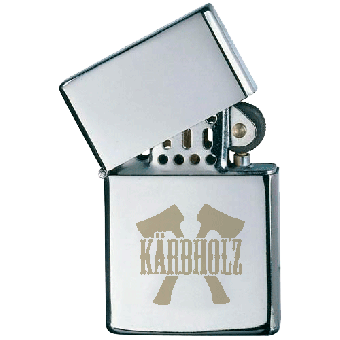 "Kärbholz ""100%"" Sturmfeuerzeug / lighter"