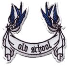 OLD SCHOOL - Aufnäher/ patch (gestickt) (124)