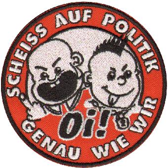 Scheiss auf Politik Aufnäher / patch (gestickt)