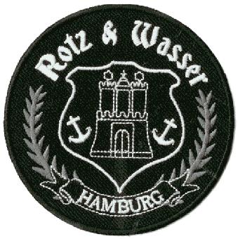 """Rotz & Wasser """"Hamburg"""" Aufnäher / patch (gestickt)"""