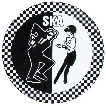 "SKA ""Dancing"" Hartemaille Pin (80) NEU"