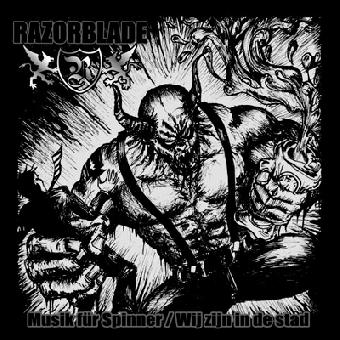 """Razorblade """"Musik für Spinner"""" 7"""" (black-red-yellow Vinyl, lim.250, Downl. Code)"""