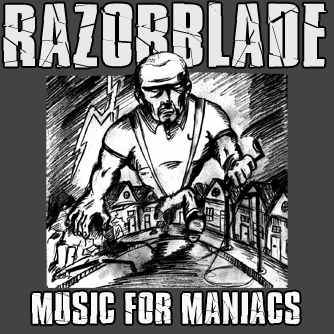 "Razorblade ""Music for Maniacs"" LP (black vinyl, lim. 50, DL code)"
