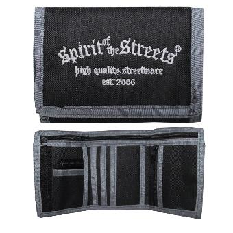 """Geldbörse / Wallet """"Spirit of the Streets"""" (schwarz/grau)"""