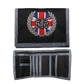 """Geldbörse / Wallet """"Union Jack Spirit """" (schwarz/grau)"""