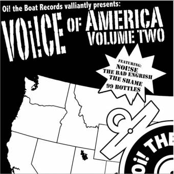 """V/A Voice of America Vol. two EP 7"""" (+ download) (Noi!se, Shame)"""