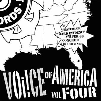 "V/A Voice of America Vol. four EP 7"" (Hard Evidence, Sniper 66, Concrete, Trying!)"