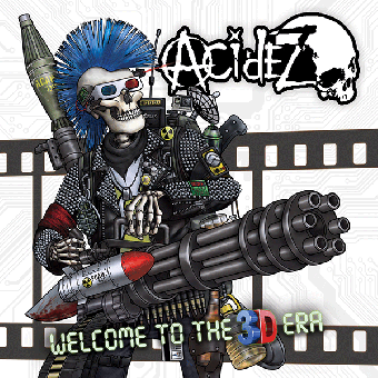 """Acidez """"Welcome to the 3D era"""" LP (lim. red-blue) (3D Glasses, 3D Poster, MP3)"""