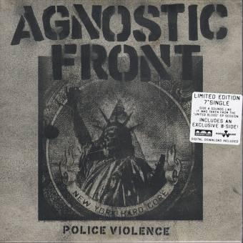 """Agnostic Front """"Police Violence"""" EP 7"""" (lim.1000, clear/ red splatter)"""