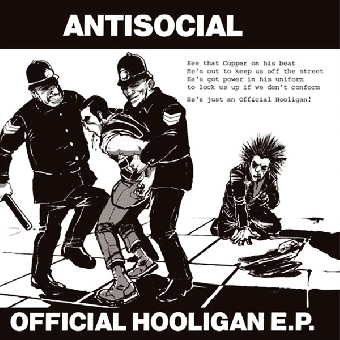 "Antisocial ""Official Hooligan"" EP 7"" (lim. 300, Skinhead Ramon cover)"