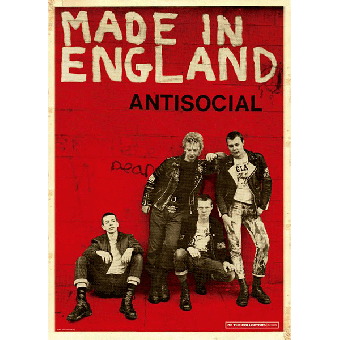 """Antisocial """"Made in England"""" Poster (A2) (gefaltet)"""