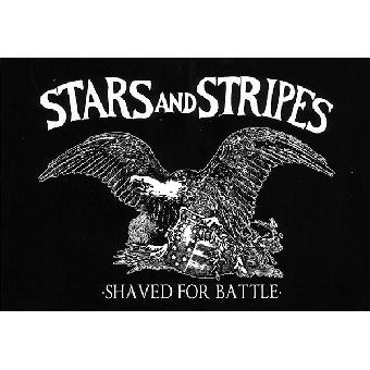 "Stars and Stripes ""Shaved for battle"" Aufkleber / sticker 018-1"