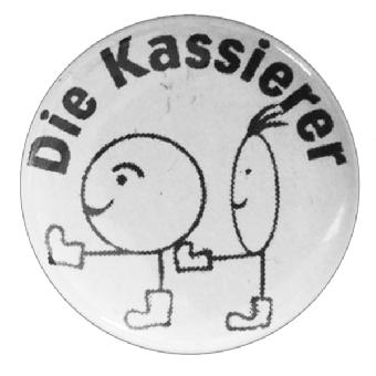 """Die Kassierer """"Männchen"""" Button (2,5 cm)"""