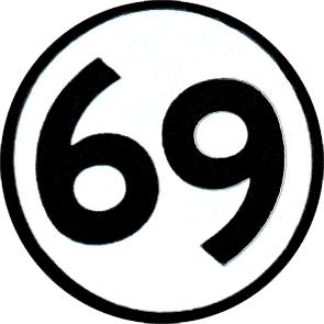 69 - Button (2,5 cm) 57 (Neu)
