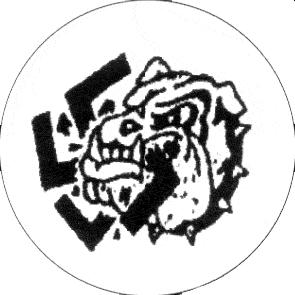 Bulldogge - Button (2,5 cm) 90 (Neu)