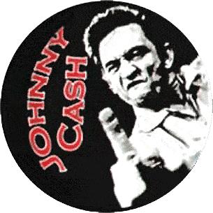 Johnny Cash - Button (2,5 cm) 101 (NEU)