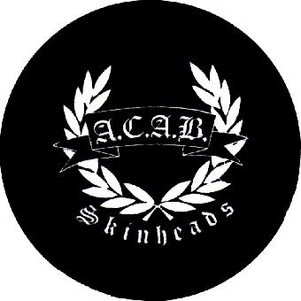 A.C.A.B. Skinhead - Button (2,5 cm) 114