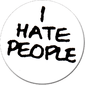 I Hate People - Button (2,5 cm) 119