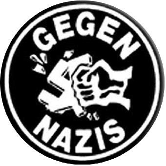 Gegen Nazis (1) - Button (2,5 cm) 164