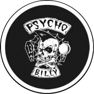 Psychobilly - Button (2,5 cm) 167 (Neu)