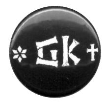 "Grober Knüppel ""Logo"" - Button (2,5 cm) 197 (NEU)"