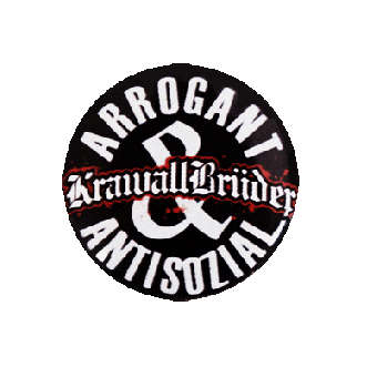 "Krawallbrüder ""Antisozial"" - Button (2,5 cm) 213 NEU"