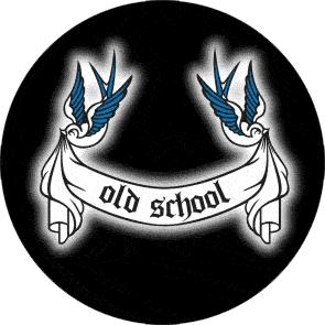 Old School - Button (2,5 cm) 237 (Neu)