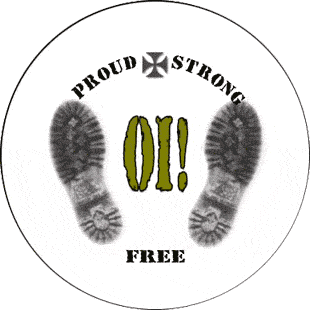Proud, Strong & Free - Button (2,5 cm) 246 (Neu)