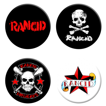 Rancid Button Set (4 Stck.) (2,5 cm) 274