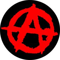Anarchie schwarz/rot  - Button (2,5 cm) 290