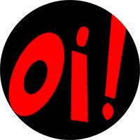 Oi! (schwarz/rot) - Button (2,5 cm) 323