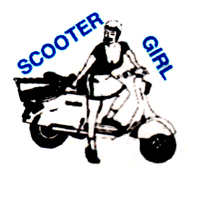 Scootergirl - Button (2,5 cm) 349