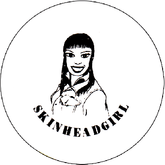 Skinhead Girl - Button (2,5 cm) 372