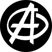 Anarchie (schwarz/weiss) - Button (2,5 cm) 378