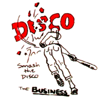 "Business ""Smash The Disco"" Button (2,5 cm) 386"