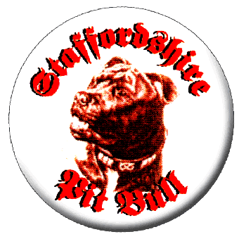 Staffordshire Pit Bull - Button (2,5 cm) 396