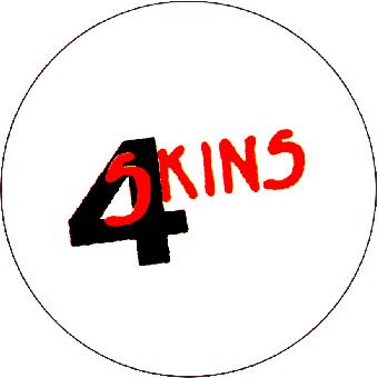 4 Skins (weiss/schwarz/rot) - Button (2,5 cm) 400