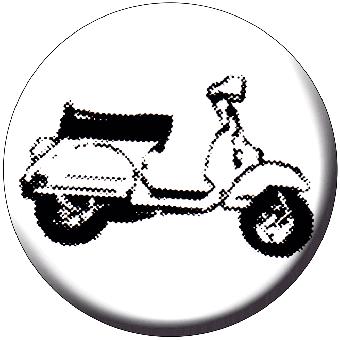 Vespa (Roller) - Button (2,5 cm) 423