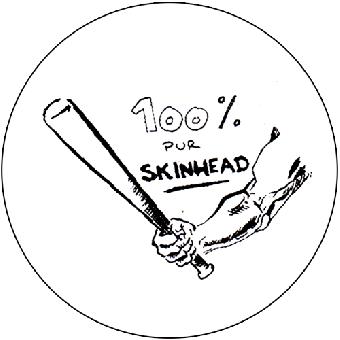 100 % Skinhead - Button (2,5 cm) 445