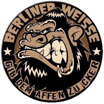 """Berliner Weisse """"Gib dem Affen Zucker"""" Button (2,5 cm) 606-1"""