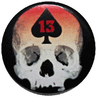 13 Skull Pik - Button (2,5 cm) 636