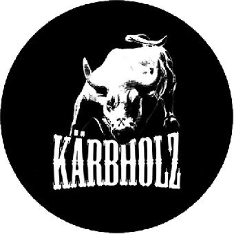 "Kärbholz (6) ""Stier + Logo"" Button (2,5 cm) 688"