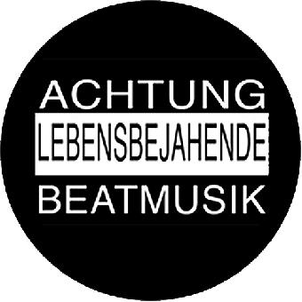 """Kärbholz (12) """"Achtung"""" Button (2,5 cm) 694"""
