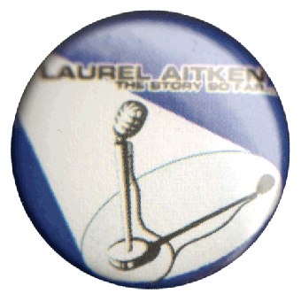 "Laurel Aitken ""Microphone"" Button (2,5 cm) (697)"