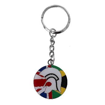 Trojan Union Jack/ Jamaican Flag Keychain