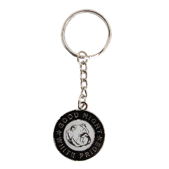 Good Night White Pride Keyring (black)